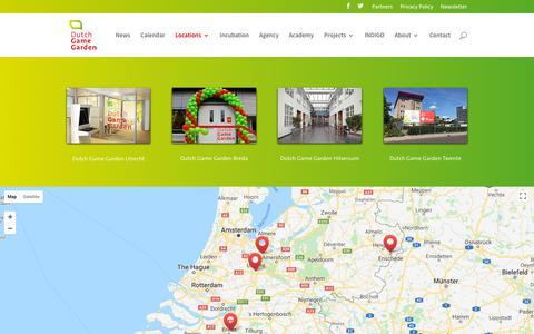 Screenshot of Locations Page dutchgamegarden.nl - Dutch Game Garden Business Center | Dutch Game Garden - captured Aug. 9, 2018