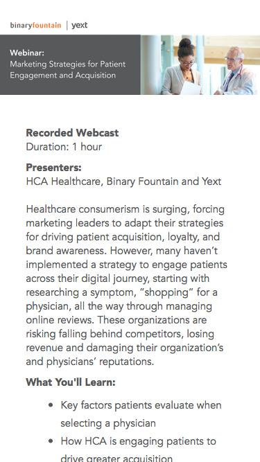 Webinar | Marketing Strategies for Patient Engagement and Acquisition