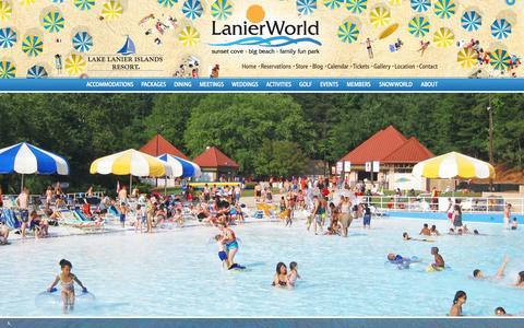 Screenshot of Hours Page lakelanierislands.com - Atlanta Georgia Water Parks | LanierWorld - Hours | Georgia Amusement & Theme Parks - captured Sept. 22, 2014
