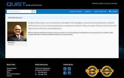 Screenshot of About Page quistelectronics.com - About Quist Electronics - Quist Electronics - captured Dec. 15, 2015
