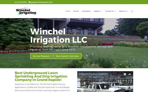Screenshot of Home Page winchelirrigation.com - Lawn Sprinkling System   Drip Irrigation System Installation - captured Oct. 21, 2017