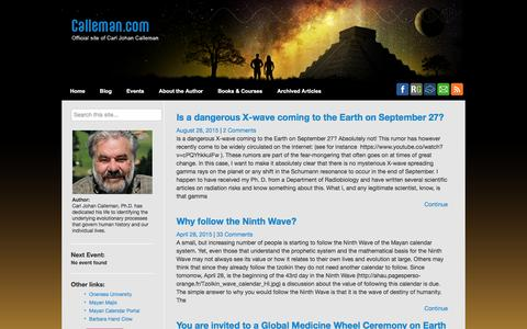 Screenshot of Blog calleman.com - Blog - Calleman - captured May 25, 2016