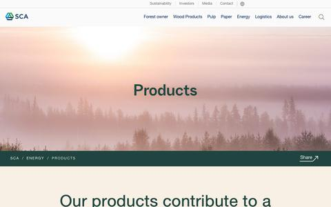 Screenshot of Products Page sca.com - Products - SCA - captured Dec. 1, 2018