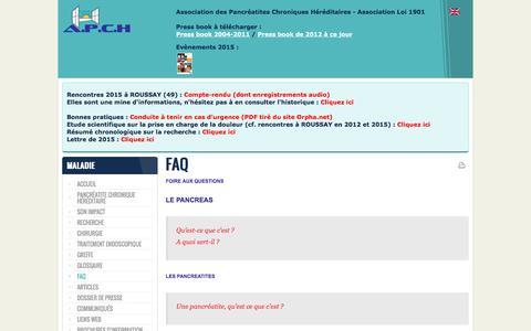 Screenshot of FAQ Page association-apch.org - FAQ - captured June 2, 2016