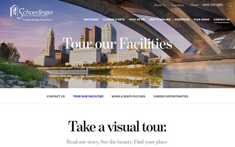 Screenshot of Locations Page schoedinger.com - Tour our Facilities | Schoedinger Funeral and Cremation Services - Columbus, OH - captured Oct. 2, 2018