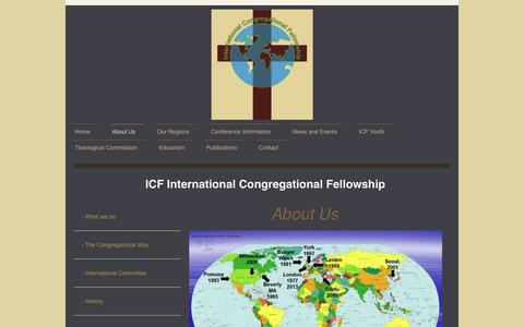 Screenshot of About Page internationalcongregationalfellowship.org - Learn More About International Congregational Fellowship - captured April 4, 2017