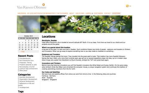 Screenshot of Locations Page vanriesen.com - Van Riesen  » Locations - captured Oct. 7, 2014