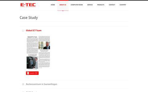 Screenshot of Case Studies Page e-tecpowerman.com - Case Study - E-TEC Power Management - captured Sept. 25, 2018