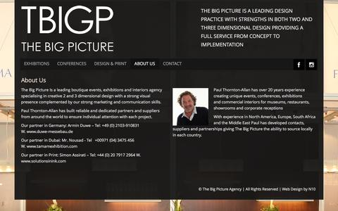 Screenshot of About Page tbigp.com - The Big Picture Agency | Exhibition stands & commercial interiors - captured Feb. 16, 2016