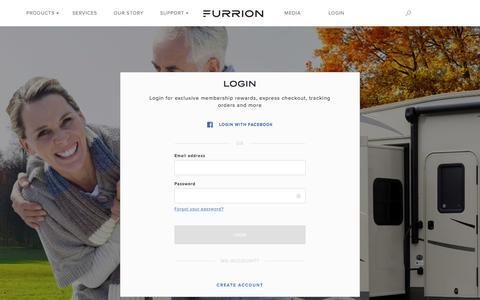 Screenshot of Login Page furrion.com - Login - Furrion - captured June 6, 2017