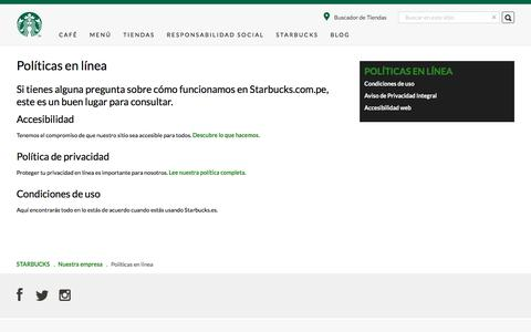 Políticas en línea | Starbucks Coffee Company