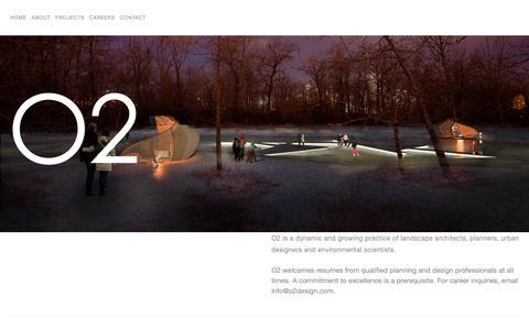 Screenshot of Jobs Page o2design.com - Careers — O2 Planning + Design - captured Nov. 9, 2018