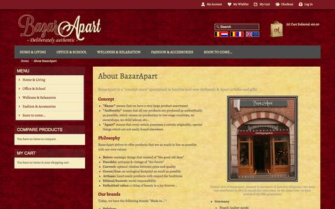 Screenshot of About Page bazarapart.be - About BazarApart - captured Sept. 30, 2014