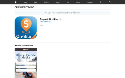 Deposit On-Site on the AppStore