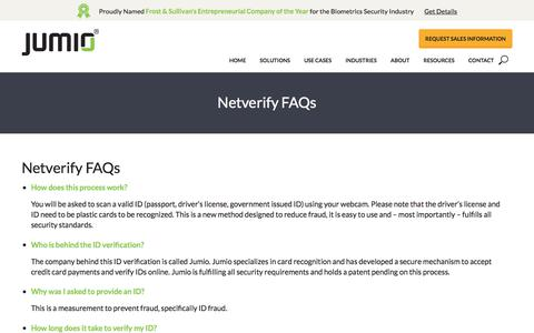 Netverify FAQs - Jumio