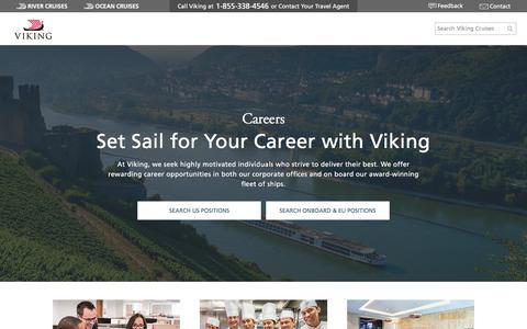 Screenshot of Jobs Page vikingcruises.com - Careers | Jobs | Viking Cruises - captured June 21, 2018