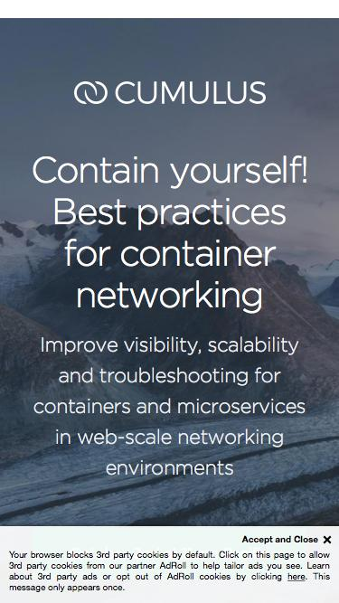 Best practices for network management in containerized environments