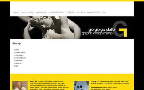 Screenshot of Site Map Page giorgiogandolfo.it - Sitemap - giorgio gandolfo | graphic design | milano - captured Feb. 2, 2016