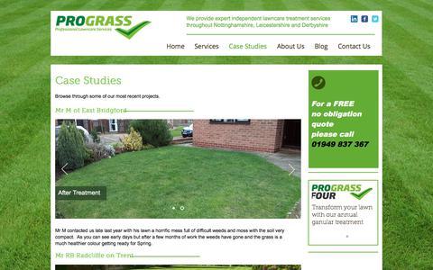 Screenshot of Case Studies Page pro-grass.com - pro-grass | Case Studies - captured Sept. 9, 2017