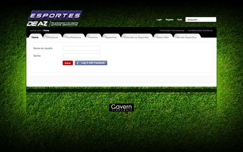 Screenshot of Login Page esportesdeaaz.com.br - Esportes de A a Z - captured Sept. 30, 2014