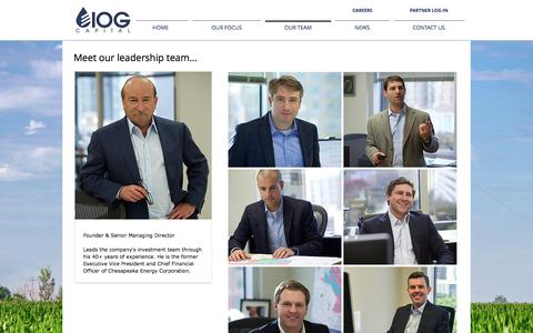Screenshot of Team Page iogcapital.com - IOG Capital - U.S. Upstream Energy Investments | OUR TEAM - captured Oct. 4, 2017