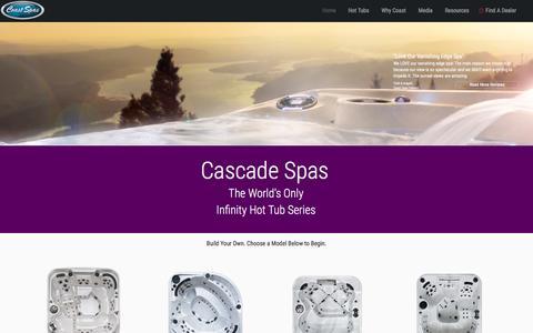 Infinity Edge Hot Tub | Cascade Series by Coast Spas