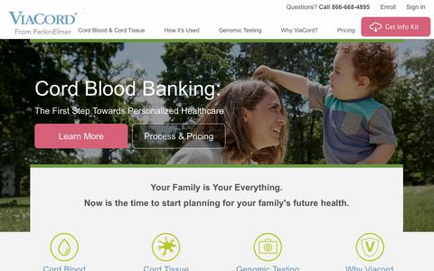 Your Family's Cord Blood and Cord Tissue Bank | ViaCord