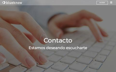 Contacto - Blueknow
