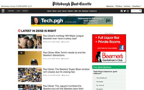 Zeise is Right | Pittsburgh Post-Gazette