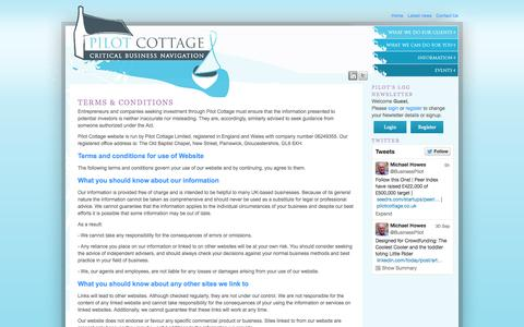 Screenshot of Terms Page pilotcottage.co.uk - Terms & Conditions | Pilot Cottage - captured Oct. 2, 2014