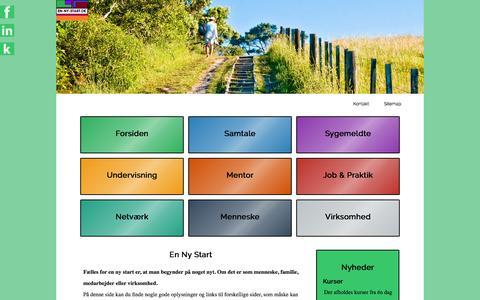 Screenshot of Home Page en-ny-start.dk - en-ny-start.dk | Vi hjælper DIG til en ny start - captured July 22, 2015