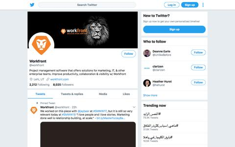 Tweets by Workfront (@workfront) – Twitter