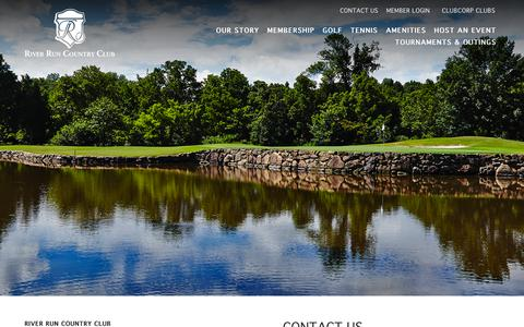 Screenshot of Contact Page clubcorp.com - Contact Us | River Run Country Club - captured Oct. 20, 2018