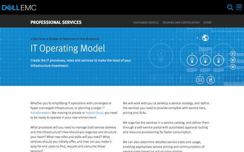 Screenshot of Services Page dellemc.com - IT Organization Process Transformation | Dell EMC US - captured Feb. 5, 2018
