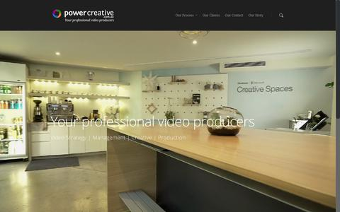Screenshot of Home Page powercreative.com.au - Power Creative, Your Professional Video Producers - captured Sept. 25, 2018
