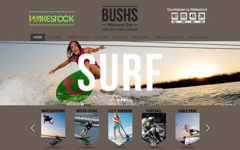 Screenshot of Home Page bushs.co - bushs - captured Jan. 30, 2015