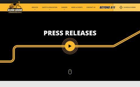 Screenshot of Press Page bhug.com - News & Events | Blood Hound, LLC - captured Aug. 8, 2017
