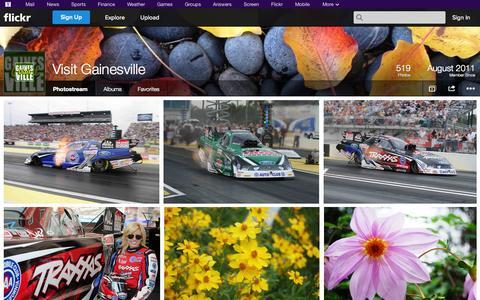 Screenshot of Flickr Page flickr.com - Flickr: Visit Gainesville's Photostream - captured Oct. 26, 2014