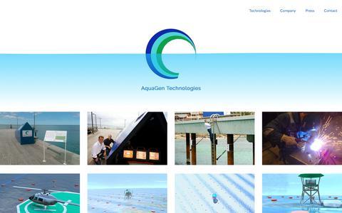 Screenshot of Press Page aquagen.com.au - Wave Energy | Renewable Energy | Green Energy | Clean Energy  | AquaGen Technologies - captured Oct. 8, 2017