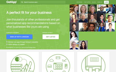 Screenshot of Signup Page getapp.com - A perfect fit for your business | GetApp® - captured June 20, 2018