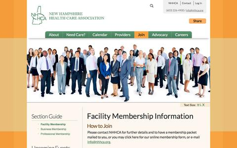 Screenshot of Signup Page nhhca.org - Quality Long Term Care - New Hampshire - captured June 22, 2016
