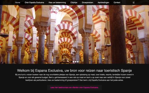 Screenshot of Home Page espana-exclusiva.nl - Espana Exclusiva | voor uw reis naar toeristisch Spanje! - captured Sept. 20, 2015