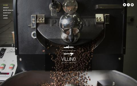 Screenshot of Home Page villino.com.au - Villino Cafe + Coffee Roaster Hobart, Tasmania - captured Oct. 7, 2014