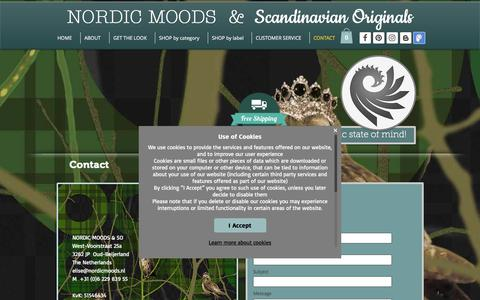 Screenshot of Contact Page nordicmoods.nl - Nordic Moods | contact - captured June 14, 2017