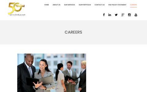 Screenshot of Jobs Page grenigas.com - Careers - captured Sept. 26, 2018