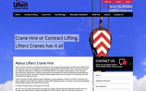 Screenshot of About Page lifterz-cranes.co.uk - Crane Hire |  Moving and Installation | Lifterz - captured Oct. 2, 2014