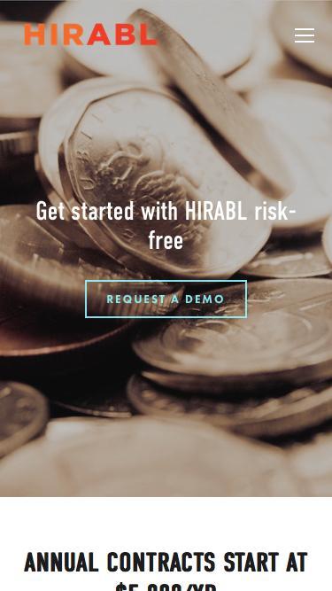 Screenshot of Pricing Page  hirabl.com - Pricing — HIRABL