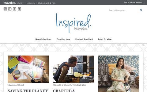 Screenshot of Blog kravet.com - Kravet | Blog - - captured Sept. 20, 2018