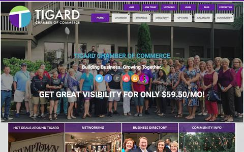 Screenshot of Home Page Privacy Page tigardchamber.org - Tigard Chamber of Commerce - captured Oct. 19, 2018