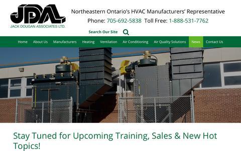 Screenshot of Press Page jdaltd.ca - Jack Dougan Associates Ltd.   News - captured Oct. 13, 2018